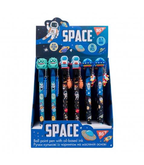 "Ручка масляна YES ""Space Aliens"", 0,7 мм, синяя - фото 3 з 5"