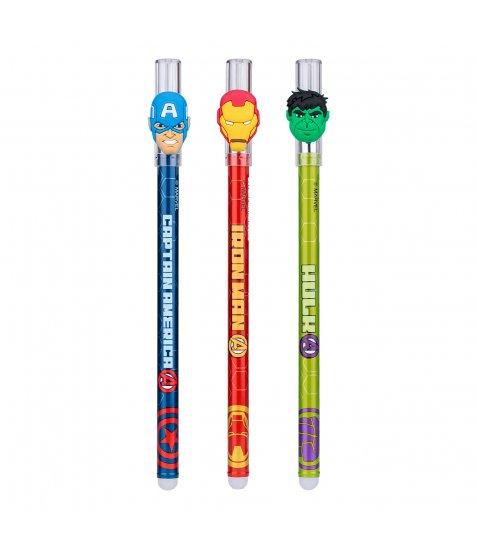 """Ручка гелева YES пиши-стирай """"Marvel. Avengers"""" 0,5мм, синя"""