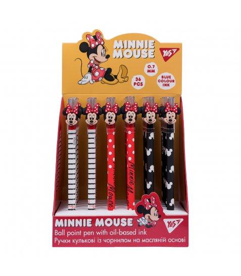 """Ручка масляна YES """"Minnie Mouse"""", 0,7 мм, синяя - фото 3 з 5"""