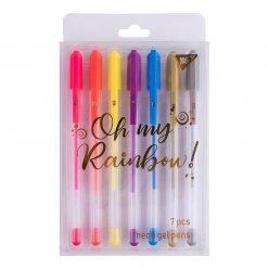 """Ручки гелеві  YES """"Oh My Rainbow!"""", неон, набір 7шт."""