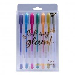 """Ручки гелеві  YES """"Oh My Glam!"""", металік, набір 7шт."""