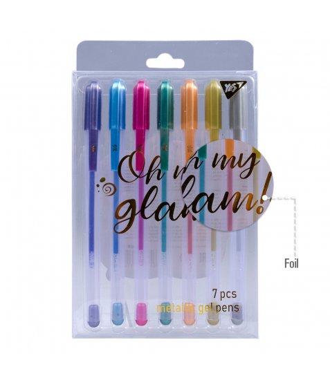 """Ручки гелеві  YES """"Oh My Glam!"""", металік, набір 7шт. - фото 4 з 4"""