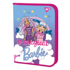 "Папка для зошитів YES пласт. на блискавці В5 ""Barbie"""