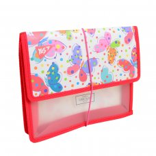 """Folder for copybooks plastic. with rubber band  В5 """"Turnowsky Butterflies"""""""