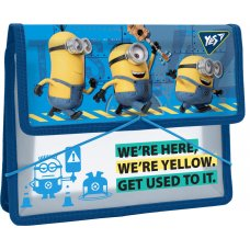 "Folder for copybooks plastic. with rubber band  В5 ""Minions"""