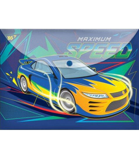 "Папка-конверт на кнопці А4  ""Speed car"""