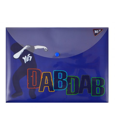 """Папка-конверт на кнопці А4 """"Dabdab"""""""