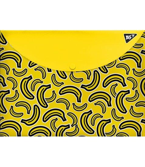 """Папка-конверт YES на кнопці А4 """"Bananas"""""""