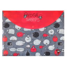 "Envelope with button A4 ""Yoga sheeps"""