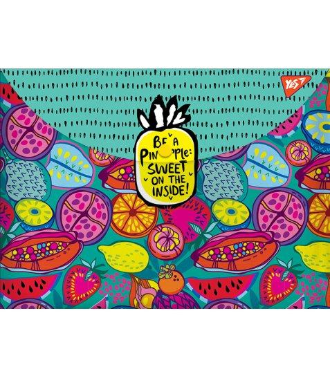 """Папка-конверт на кнопці А4 """"Exotic fruits"""""""