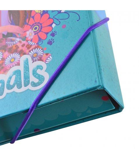 """Папка для праці картонна А4 """"Enchantimals"""""""