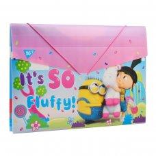 "Папка YES пласт. на резинке 38*25см ""Minions Fluffy"""