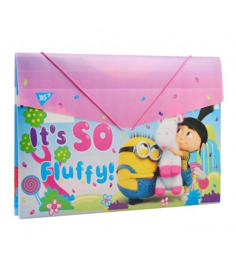 "Папка YES пласт. на резинці 38*25см ""Minions Fluffy"""