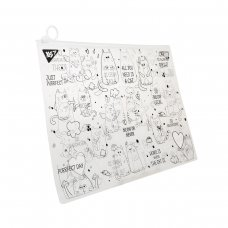 "Папка-конверт YES на блискавцi А4 ""Amigo Cats"""