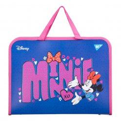"Папка-портфель YES на блискавці з тканинними ручками ""Minnie Mouse"""