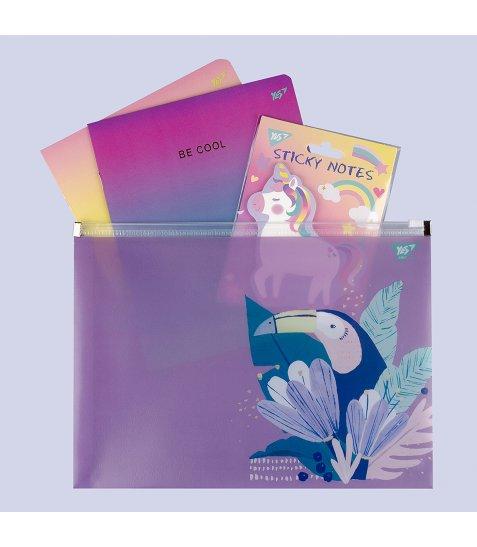 """Папка-конверт YES на блискавцi B5 """"JUNGLE"""" - фото 3 з 3"""