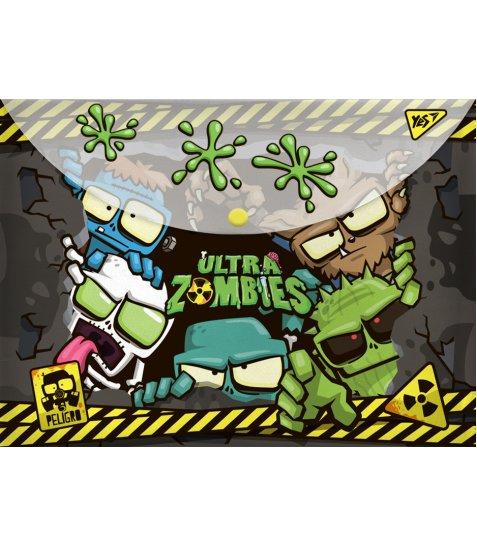"""Папка-конверт YES на кнопці А4 """"Zombie"""""""