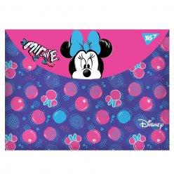 "Папка-конверт YES на кнопці А4 "" Minnie Mouse"""