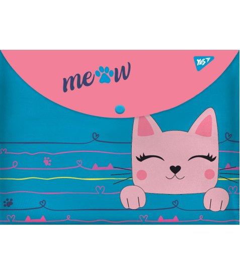 """Папка-конверт YES на кнопці А4 """"Cats"""""""