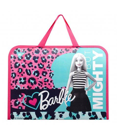 "Папка-портфель YES на блискавці з тканинними ручками ""Barbie"""