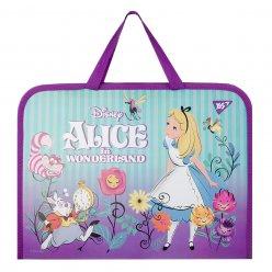 "Папка-портфель YES на блискавці з тканинними ручками ""Alice in Wonderland"""