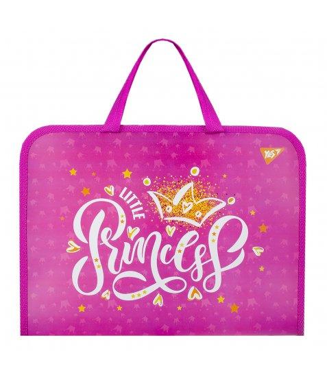 "Папка-портфель YES на блискавці з тканинними ручками ""Little Princess"""