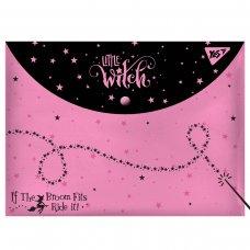 "Папка-конверт YES на кнопці А4 "" Little Witch"""