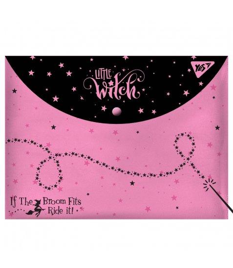 """Папка-конверт YES на кнопці А4 """" Little Witch"""" - фото 1 з 1"""