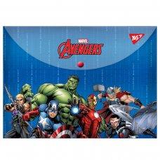 """Папка-конверт YES на кнопці А4 """" Marvel.Avengers"""""""