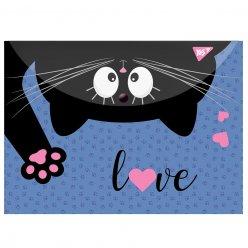 "Папка-конверт YES на кнопці А4 "" Meow"""