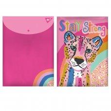 "Папка-конверт YES на кнопці А4 ""Pink Panther"""