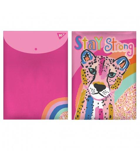"Папка-конверт YES на кнопці А4 ""Pink Panther"" - фото 1 з 1"