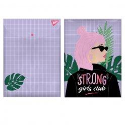 """Папка-конверт YES на кнопці А4  """"Strong Girl"""""""