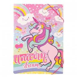"""Папка для праці YES картонна А4 """"Unicorn"""""""