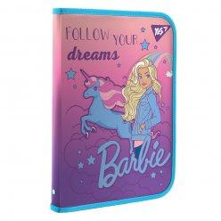 "Папка факультативна YES пласт. на блискавці FC ""Barbie"" з внутр. кишенею"