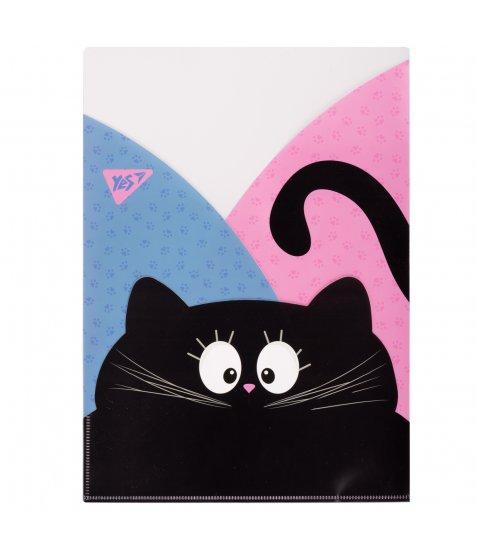 """Папка - куток YES A4 """"Meow"""", 3 фігурні відділення - фото 1 з 1"""