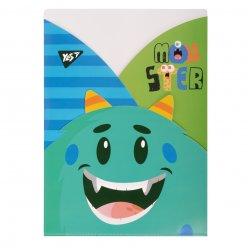 """Папка - куток YES A4 """"Monsters"""", 3 фігурні відділення"""