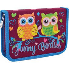 "Hard pencil case with one flap HP-03 ""Funny Birdies"""