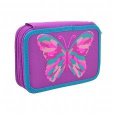 "Hard double pencil case HP-01 ""Butterfly"""