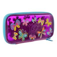 "Пенал твердий YES пластиковий  3D HP-07 ""Butterflies"""