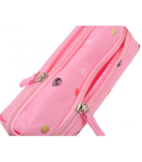 """Пенал м'ягкий  YES  TP-07 """"Dots pink"""""""
