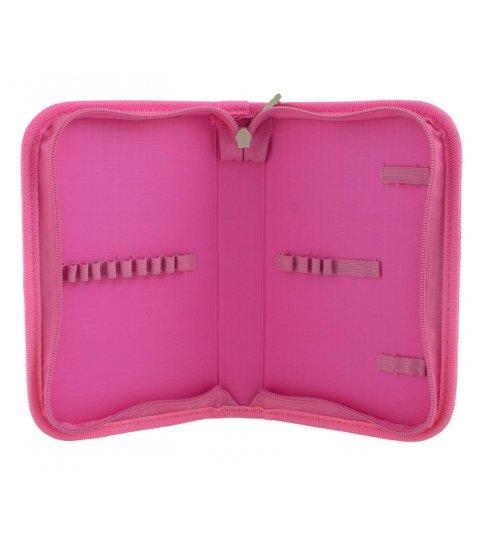 """Пенал твердий  YES  одинарний без клапана """"Sequins"""", 20.5*14*3.5, рожевий - фото 3 з 4"""