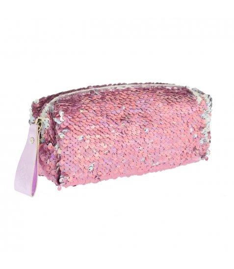 Пенал-косметичка YES GP-01 ''Pink Sequins'' - фото 1 з 4