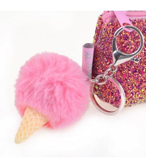 """Пенал-косметичка YES с пайетками """"Ice-Cream"""", рожева"""