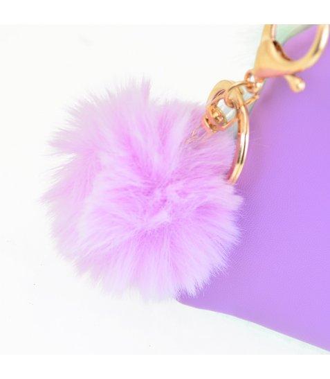 Пенал-косметичка YES  «Furry», бузкова