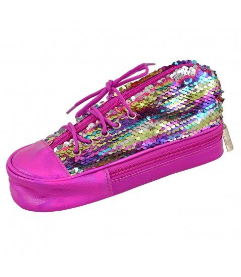 Пенал м'який YES TP-24  ''Sneakers with sequins'' rainbow