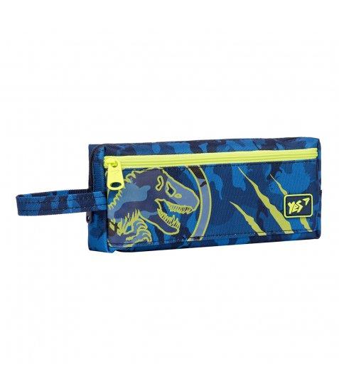"""Пенал м`який YES TP-18  """"Military Dino"""",  синій"""