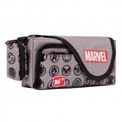 """Пенал м`який YES PH-3-2  """"Marvel.Avengers"""", сірий"""