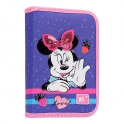 """Пенал твердий YES одинарний з клапаном HP-03  """"Minnie Mouse"""", фіолетовий"""