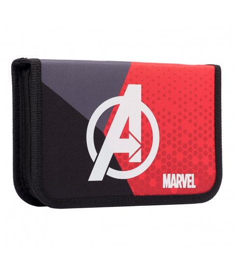 """Пенал твердий YES одинарний без клапану HP-02  """"Marvel.Avengers"""", сірий/червоний/чорний"""